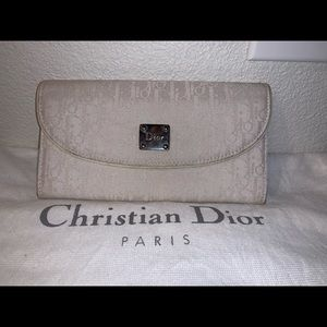 Authentic Christian Dior trotter wallet clutch